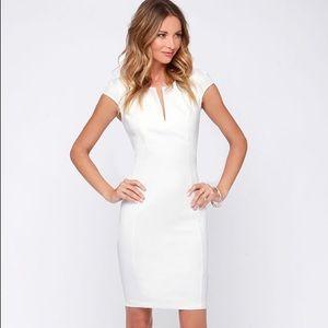 Lulus Top Notch Ivory Midi Dress
